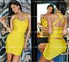 backless yellow bandage dress XS-L party dress