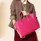 Promotion stylish smile bag women PU handbags fashion 2014
