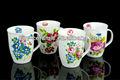 Lj-4161, pintura de la flor de cerámica taza de café