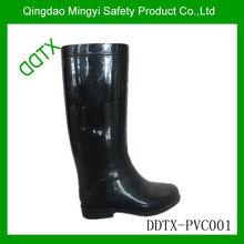 Fashioable black rain boots/gumboot/wellingtons /lady shoe