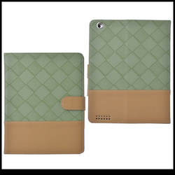 cheap knit lines leather stand case for ipad mini