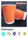 12oz personalizados impressos de papel descartáveis copo artesanato