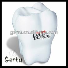 2014 Promotional gift Pu foam tooth anti stress ball