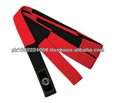 Two Color Belt taekwondo karate judo color belt/ 100% cotton color belt/ martial arts training equipment