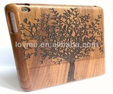 For Apple iPad Mini Solid Walnut Wood Hard Case