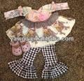 yeni stil kız bebek noel setleri bebek çocuk uzun kollu elbise fırfır pantolon elpahnt üstleri kız hayvan kıyafetler