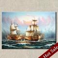 Lienzo de pintura al óleo de los barcos, mar tema de vela de la pared decoración de hogar pintura, la calidad del museo pinturas al óleo
