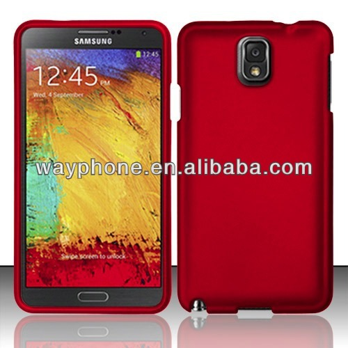 D1190 Phone Case For Samsung Galaxy Note 3 Red Rubberized Plastic Protector Cover