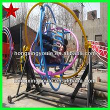 Outdoor amusement equipment ride human gyroscope, space loop