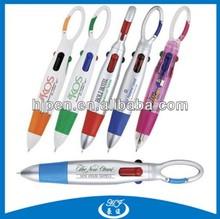 Wonderful Plastic Pen,Ball Pen with Carabiner,Carabiner Ballpoint Pen