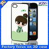 3D cute minions case for apple iphone 4 4s 3D phone case