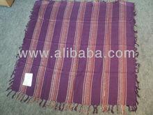 Indian Yarn Dyed Fabrics Square Scarves Headwear Neckwear & Beachwear
