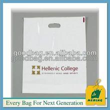 white die cut handle onigiri plastic packaging bag