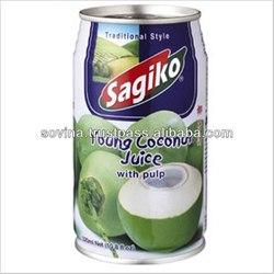 SOVINA- Sagiko Young Coconut Juice with Pulp 320ml