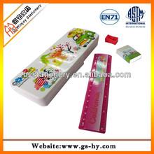 Custom kids wholesale plastic pencil case for promotion