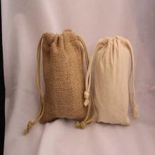 6.5 x 14 Jute Muslin Bag (Drawstring Bag)