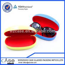 Fashion large metal leather sunglasses case