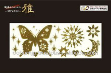 Miyabi pure gold leaf temporary tattoo seal made in Japan good for gift