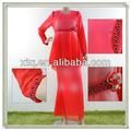 de alta calidad de gasa con cuentas casual musulmán de ropa para mujeres 2013