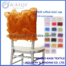 K0526 Fashionable design wedding fancy organza chair cover cap