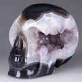 geoda de amatista piedras preciosas de la decoración