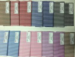 Cotton Poplin Bengal Stripes & Checks