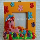 Beautiful PVC Horse Shape Photo Frame/Wholesale funny photo frame gift