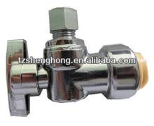 Lead free push fitting 1/4 turn valves