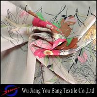 flower design printed chiffon fabric/ chiffon scarf/silk chiffon fabric