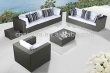2015 Modern outdoor furniture wicker sectional deeping seat
