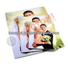 Sublimación revestido de aluminio hoja de precios de los metales fotos de la boda