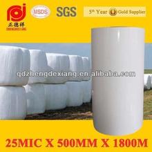 25mic white silage plastic film