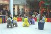 Shopping mall mechanical horse toys with large plush horse