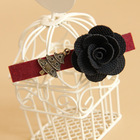 Cute DIY Black Rose Hair Clip Christmas Claw Alloy Side Clip Hair Accessory