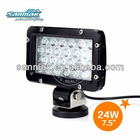 Aluminum housing 24w spot light led off road flood light