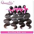 2014 popularunprocessed más barato del cabello virgen brasileño, onda del cuerpo 12-38 pulgadas brasileño cabello tejido