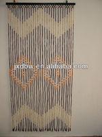 Room decorative string wooden beads door curtain