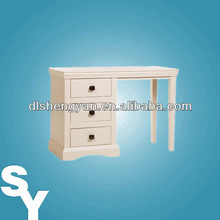 Low Price Wooden Flat Pack Single Pedestal Dressing Table
