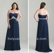 Chiffon Sweetheart Neckline Women Evening Dress For Fat Women