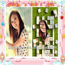 Hot promotional fridge magnet mini jigsaw puzzles children magnet educational photo puzzle