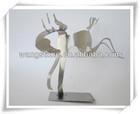 Customized elegant horse stainless steel sculpture