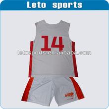 Sublimation Custom Made baseketball jerseys/tops