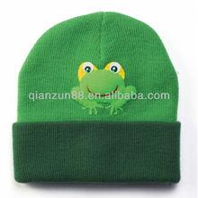 2014 children green beanie green winter cap