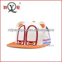 Custom 100% wool embridery eyes and ear snapback hats