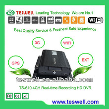 Vehicle Surveillance Sytem 4 CH HDD SD H.264 3G Mobile DVR with GPS Tracking