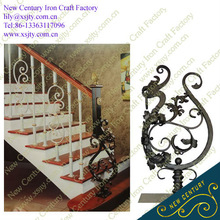 iron stair railing end metal stair railing post design
