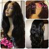 New fashion female hair wig product body wave 100% human hair u part wig