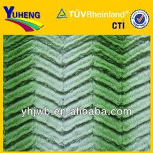 2015 Best Stripe Brushed PV Plush/100% Polyester PV Plush Fabric