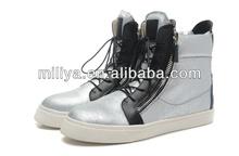 Famous italian branded high top sneakers / women wedges sneakers