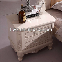 french style white bedroom furniture/night stand